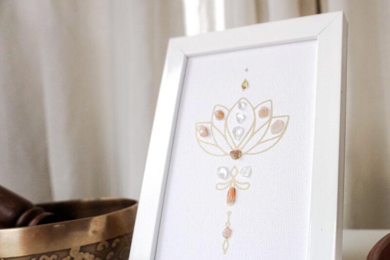 crystal grid lotus